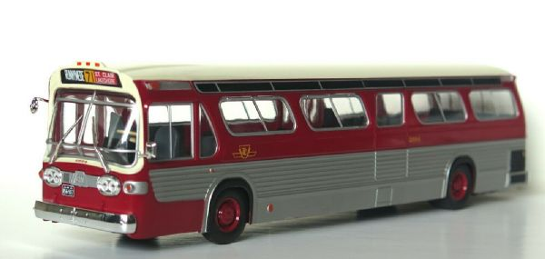 Hachette IXO HC59 1/43 Scale GM NEW LOOK FISHBOWL Bus Coach TORONTO CANADA Red